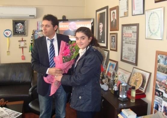 Kumburgaz Serdar Adıgüzel İlk Öğretim Okulu öğrencilerinden HABERDAR'a ziyaret.