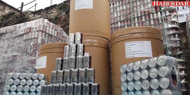 141 bin kutu yasaklı maddeli enerji içeceği ele geçirildi!
