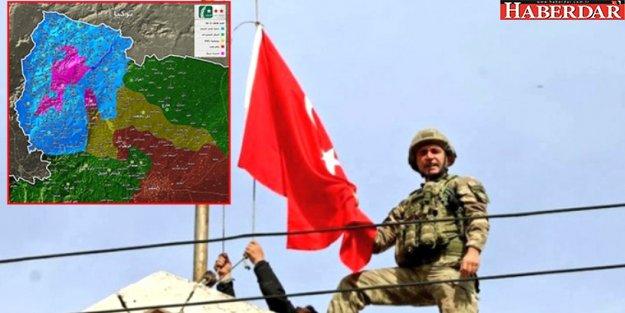 Afrin'de Harita 24 Saatte Değişti! Kuşatma Altındaki Tüm Bölgeler Temizlendi