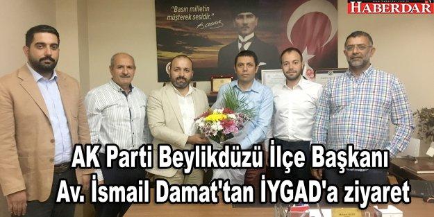 AK Parti Beylikdüzü İlçe Başkanı İsmail Damat'tan İYGAD'a ziyaret
