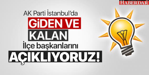 AK Parti İstanbul'da bu ilçe başkanları değişiyor...