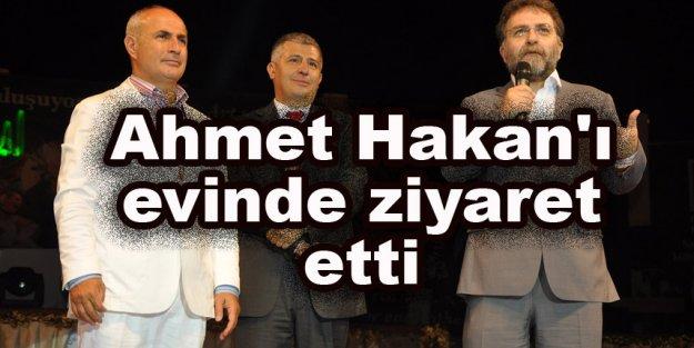 Akgün, Ahmet Hakan'ı evinde ziyaret etti