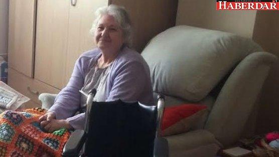 Akgün'den felçli hastaya tekerlekli sandalye