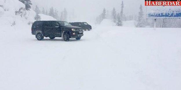 Akseki- Seydişehir yolu kar nedeniyle kapandı!