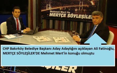 Ali Fatinoğlu, Bakırköy Belediye Başkan Aday Adaylığını Açıkladı