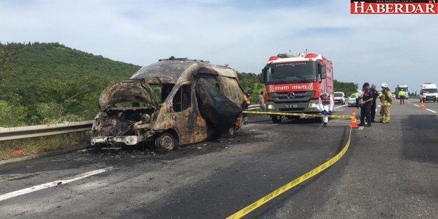Ambulans yandı 3 aylık bebek öldü