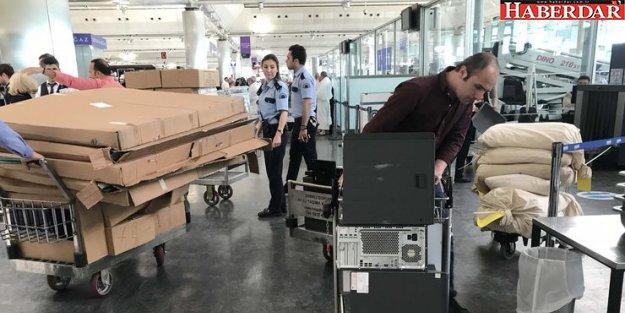 Atatürk Havalimanı'na oy sandıkları getirildi