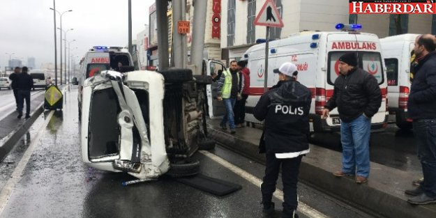 Avcılar'da Kontrolden Çıkan Araç Takla Attı: 7 Yaralı