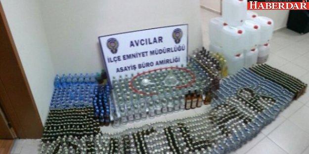 Avcılar'da Sahte Alkol Ele Geçirildi