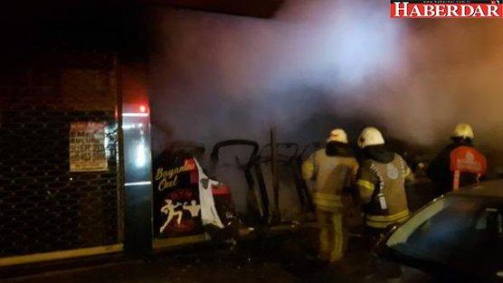 Bahçelievler'de spor salonu alev alev yandı
