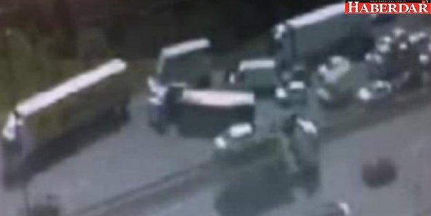 Başakşehir'de feci kaza: Trafik kilit
