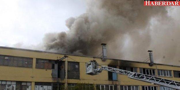 Başakşehir'de sanayi sitesinde yangın!