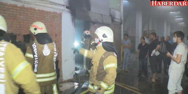 Başakşehir'de sanayi sitesinde yangın