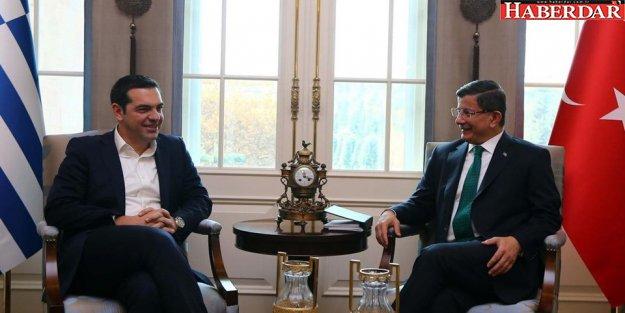 Başbakan Davutoğlu Yunanistan Başbakanı Çipras ile görüştü