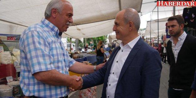 Başkan Akgün'den Tepecik pazarına ücretsiz servis