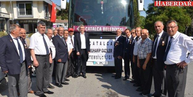 Başkan Cem Kara Muharip Gazileri Edirne'ye uğurladı
