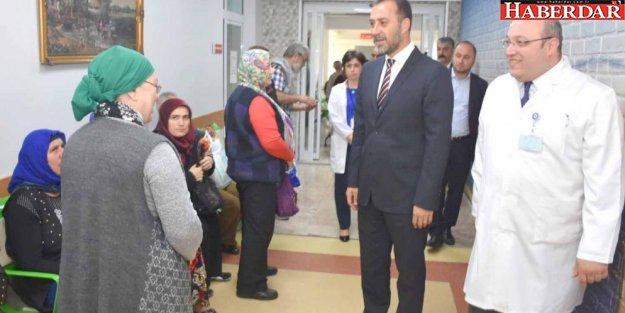 Başkan hastaneyi inceledi