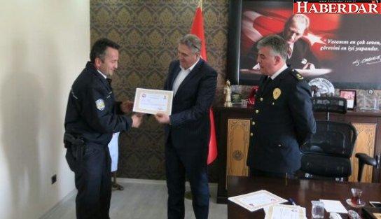 Başkan Kara İlçe Emniyet Müdürü Çelik'i ziyaret etti