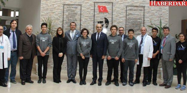 Başkan Kerimoğlu öğrencilerler bir araya geldi