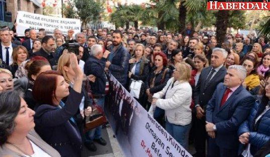 Belediye çalışanlarından Toprak'a destek