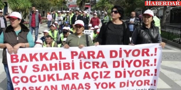 Belediye İşçilerinden Maaş Protestosu