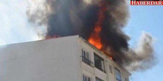 Beyoğlu'nda işçilerin barındığı dairede yangın