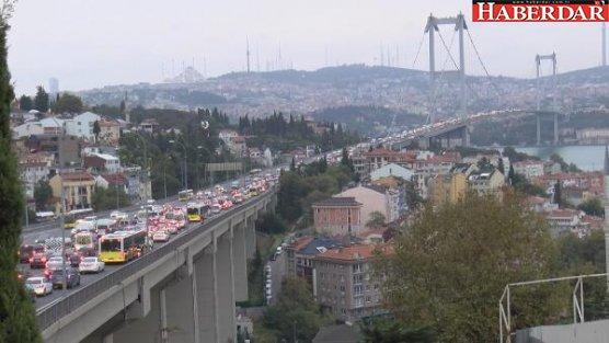 Boğaz'da intihar girişimi trafiği