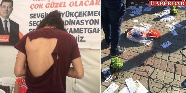 Büyükçekmece'de CHP'nin seçim çadırına saldırı