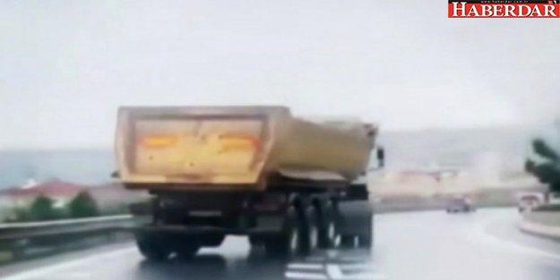 Büyükçekmece'de Drift Yapan Hafriyat Kamyonu Terör Estirdi