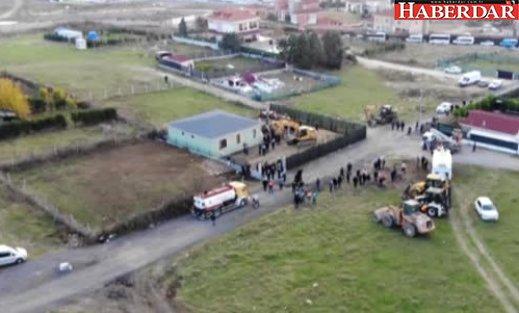 Büyükçekmece'deki 50 Kaçak Binanın Yıkımı Havadan Görüntülendi