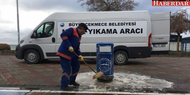 Büyükçekmece'de mobil yıkama hizmeti