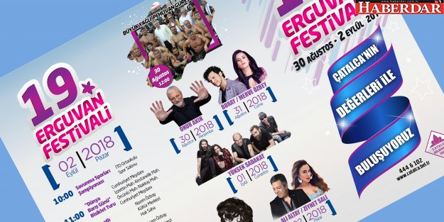 Çatalca Belediyesi 19. Erguvan Festivali başlıyor