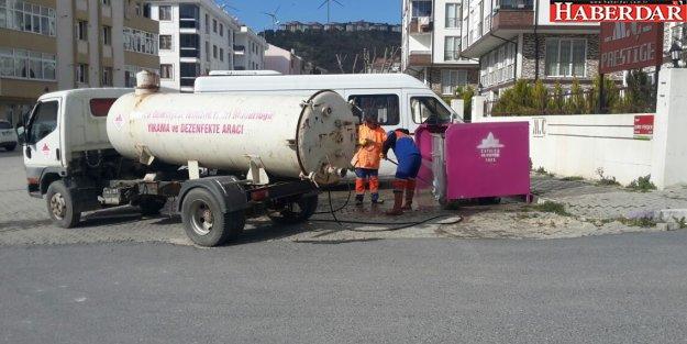 Çatalca Belediyesi'nden konteyner temizliği