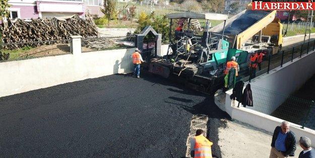 Çatalca'da asfaltlama çalışmaları devam ediyor