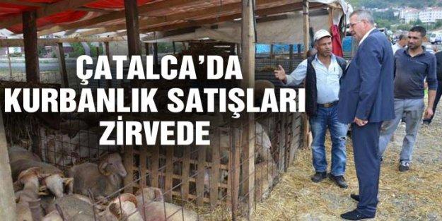 ÇATALCA'DA KURBANLIK SATIŞLARI ZİRVEDE