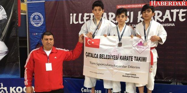 Çatalca'nın karatecileri durmak bilmiyor