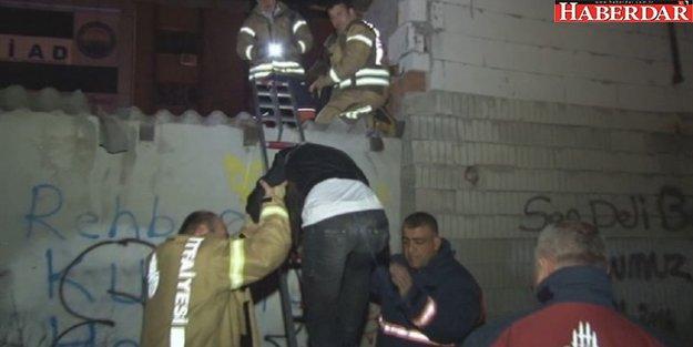 Çatıdan Düşen Hırsız Dükkan İçerisinde Mahsur Kaldı