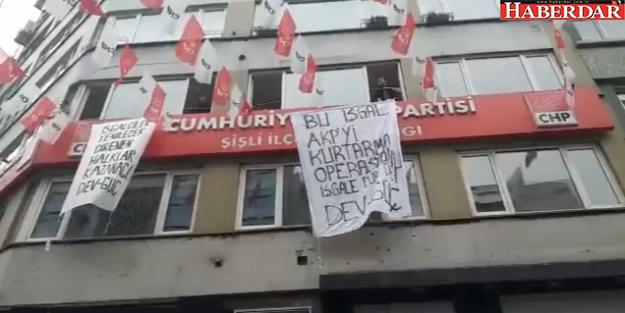 CHP binasında eylem