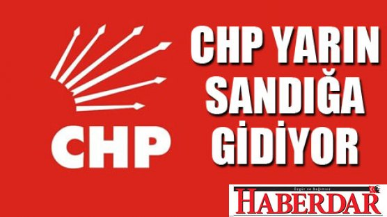 CHP#039;de seçim var...