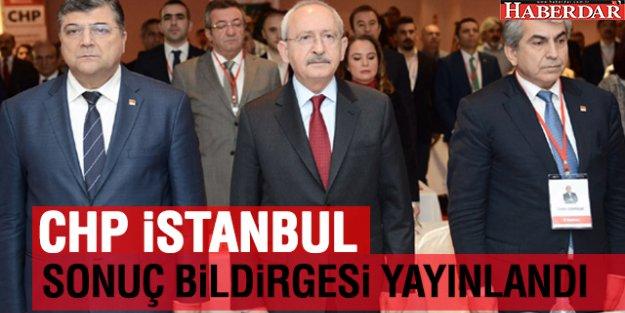 CHP İstanbul sonuç bildirgesi açıklandı