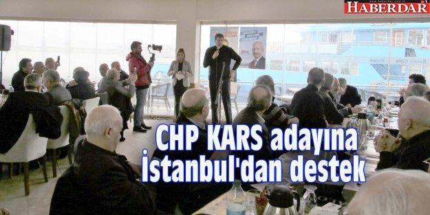 CHP KARS adayına İstanbul'dan destek