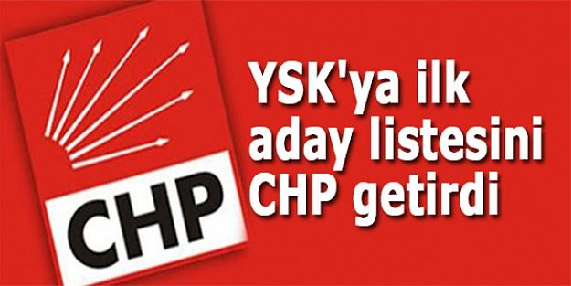 CHP listesini YSK'ya teslim etti