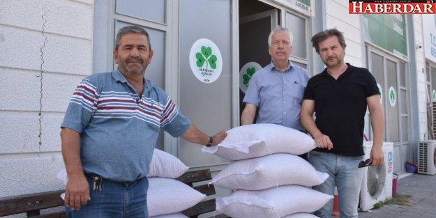 Çiftçilerden Gıda Bankası'na destek