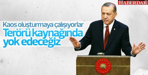Cumhurbaşkanı Erdoğan: Kaos oluşturmaya çalışıyorlar
