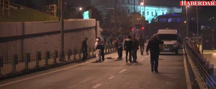 Dolmabahçe'de şüpheli alarmı