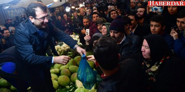 Ekrem İmamoğlu pazar tezgahına çıktı lahana sattı