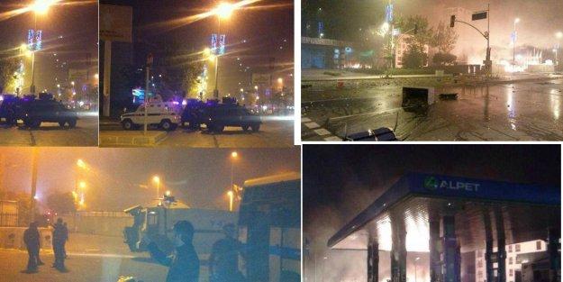 Esenyurt'ta Bir Belediye Otobüsü ile Çöp Kamyonunu Yaktılar