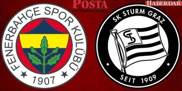 Fenerbahçe - Sturm Graz maçı ne zaman, saat kaçta, hangi kanalda?