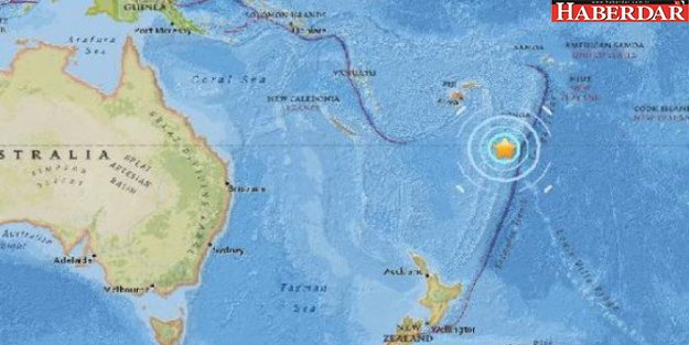 Fiji Adaları'nda deprem