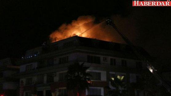 Futbolcuların oturduğu lüks rezidansta yangın!